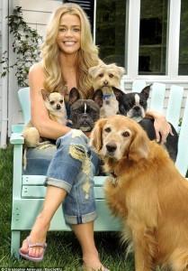 デニース・リチャーズと犬達