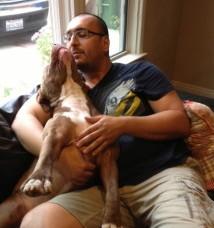 トロイと新しいお父さん Photo Source: ThePetMatchMaker.com