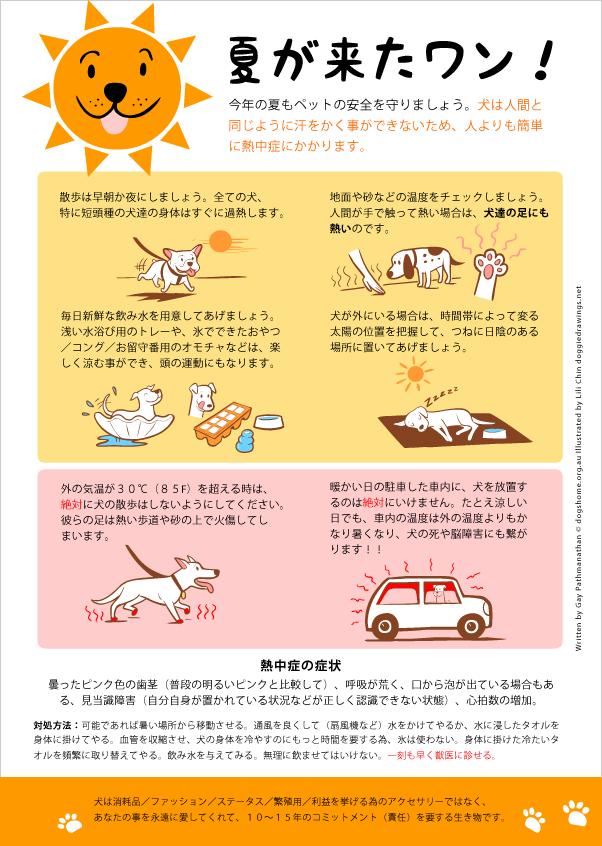 熱中症注意ポスター by リリー・チン