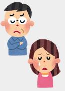 悲しい、怒った顔