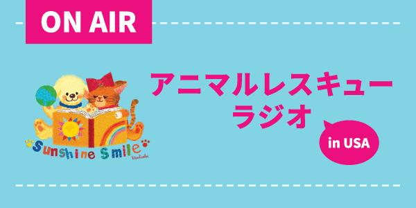サンシャインスマイルのアニマルレスキューラジオ in USA!